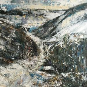 Zimní krajina (ze vzpomínek na Alpy)detail_ 2016 1200